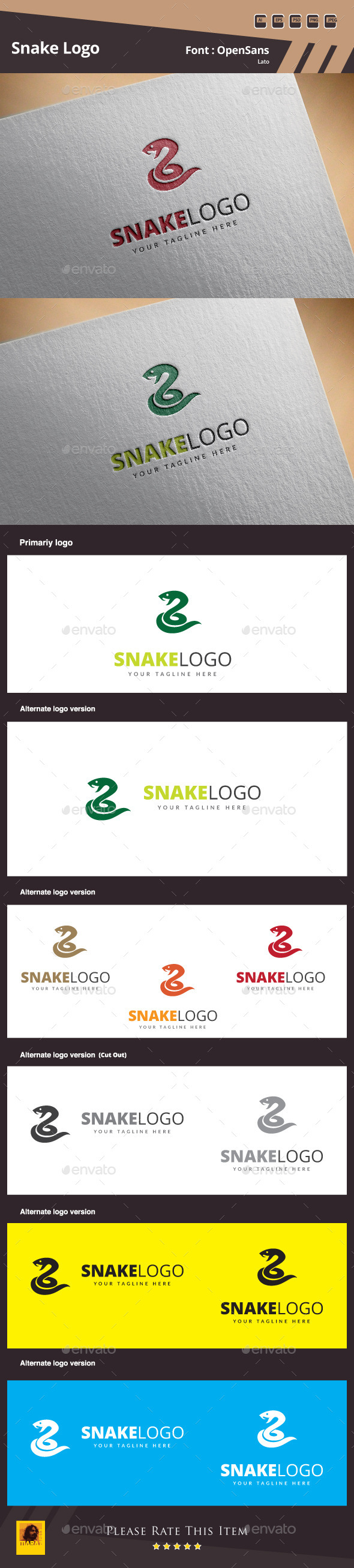 GraphicRiver Snake Logo Template 10776112