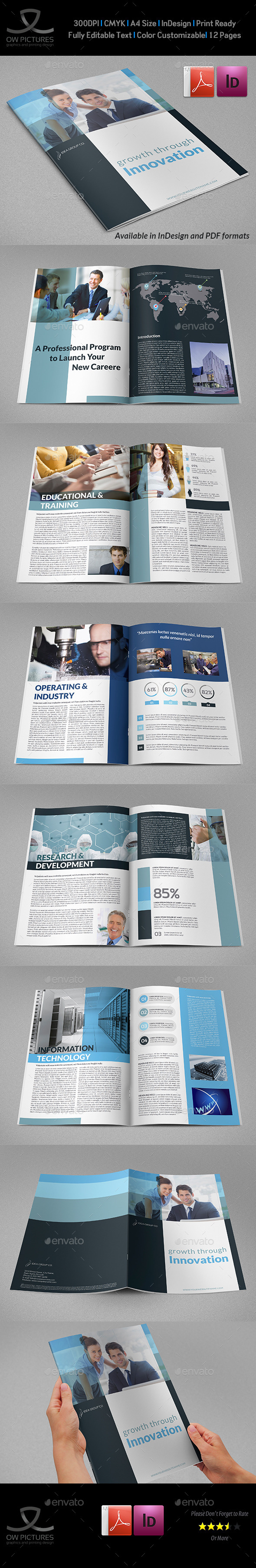 GraphicRiver Company Brochure Template Vol.41 12 Pages 10776197