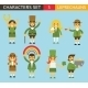 Leprechauns Characters - GraphicRiver Item for Sale