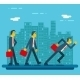 Businessman Characters Standing Walking Running - GraphicRiver Item for Sale