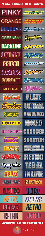 GraphicRiver 50 Illustrator Logo Graphic Styles Bundle Pack 10778157