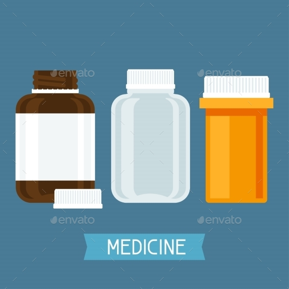 GraphicRiver Set of Three Medical Bottles 10778782