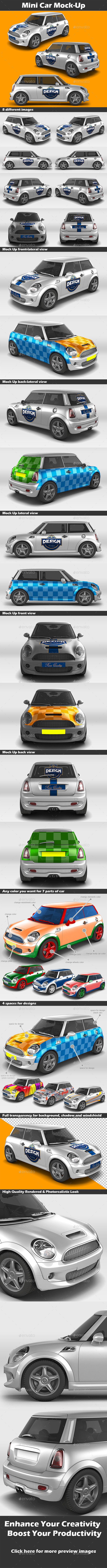 GraphicRiver Mini Car Mock-Up 10778786
