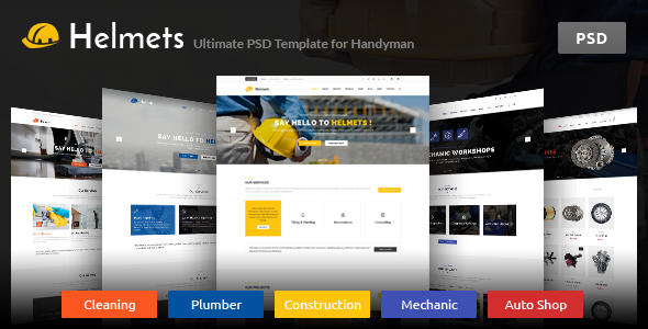 ThemeForest Helmets PSD Template for Handyman 10778792