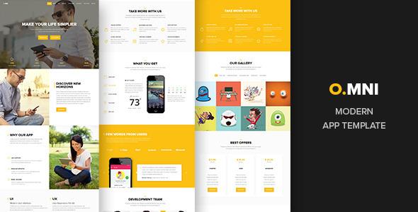 ThemeForest Omni onepage app template 10778878