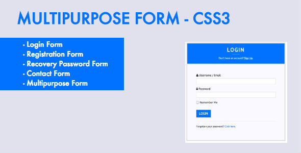 CodeCanyon Multipurpose Forms CSS3 10778985
