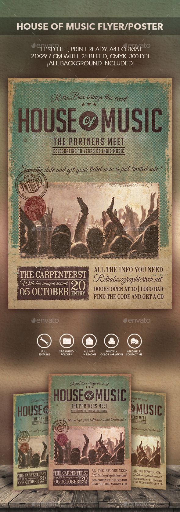 GraphicRiver House of Music Flyer Poster 10779372