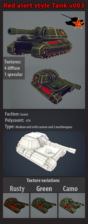 3DOcean Red alert soviet style tank v003 10779406