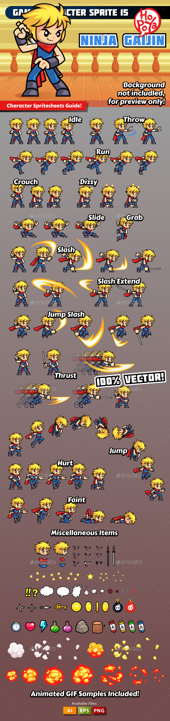 Game Character Sprite 15 - Sprites Game Assets