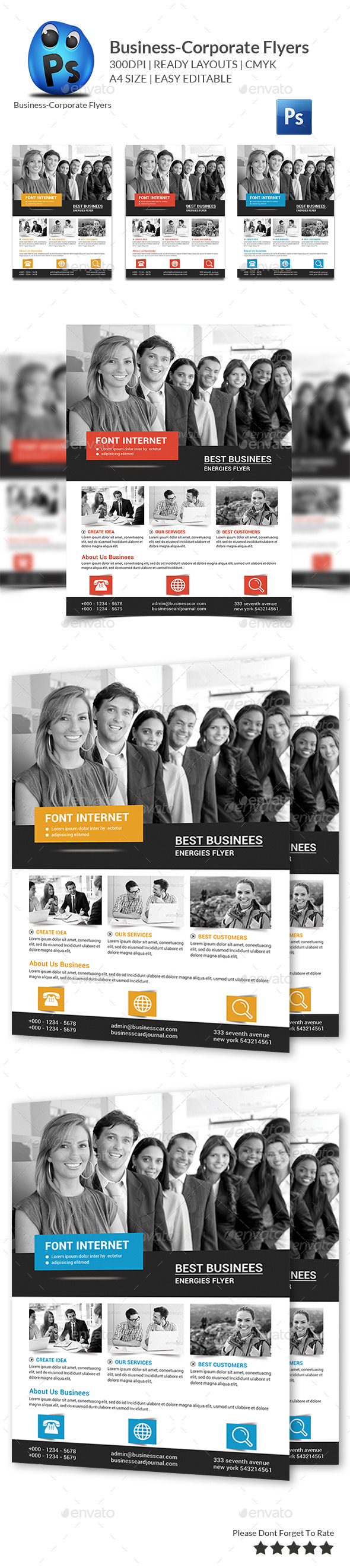 GraphicRiver Corporate Business Flyer Template 10779591