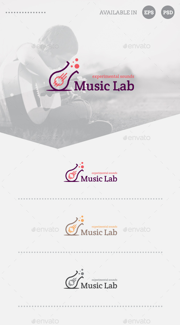 GraphicRiver Music Lab Logo Template 10779636