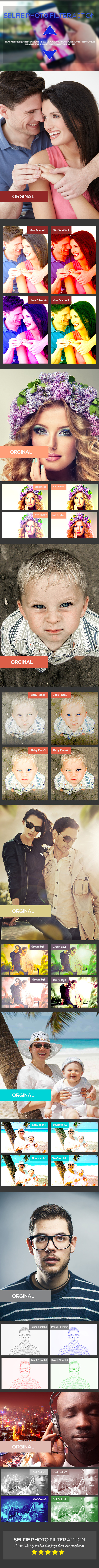 GraphicRiver Selfie Photo-Filter Action 10779641