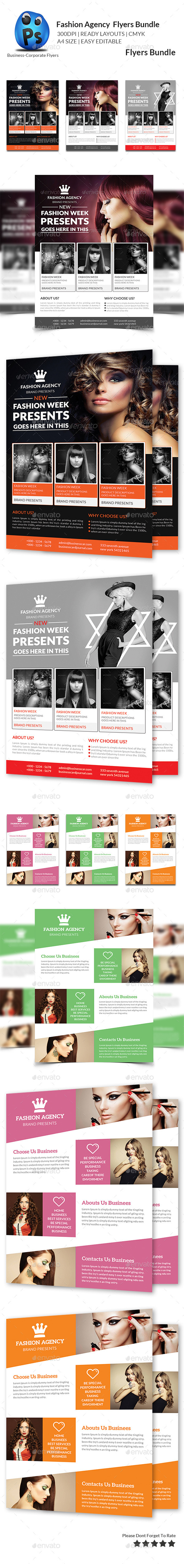 GraphicRiver Fashion Agency Flyers Bundle 10779782