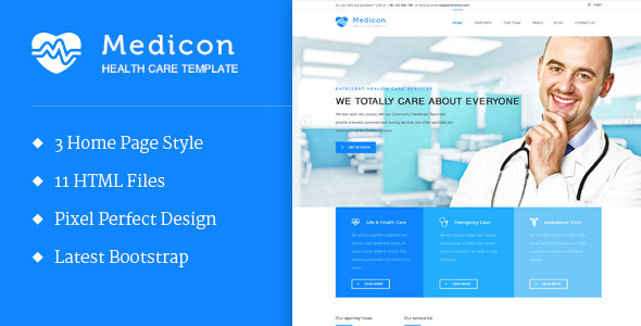 ThemeForest Medicon Health and Medical HTML Template 10780201