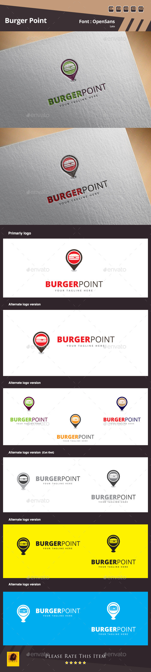 GraphicRiver Burger Point Logo Template 10780256