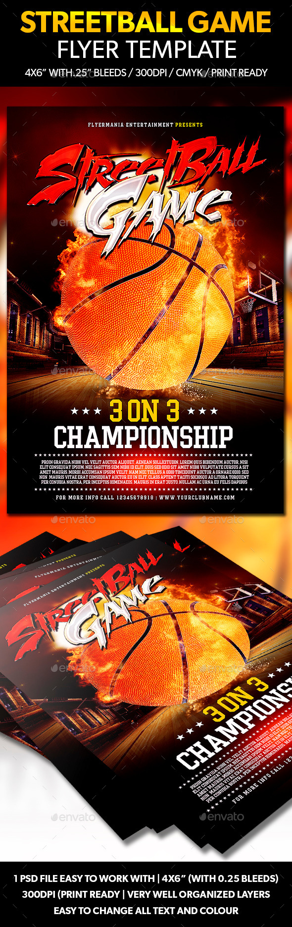 GraphicRiver Streetball Game Flyer Template 10780322