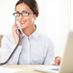 Pretty businesswoman using the phone in the office - PhotoDune Item for Sale