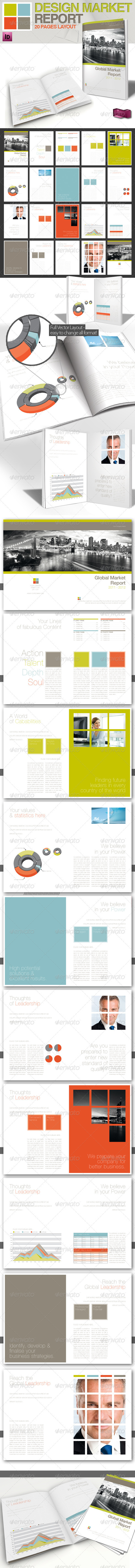 Professional Magazine Template // A4 // 4 Colors - Informational Brochures