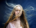 Beautiful woman with flying long hair. - PhotoDune Item for Sale