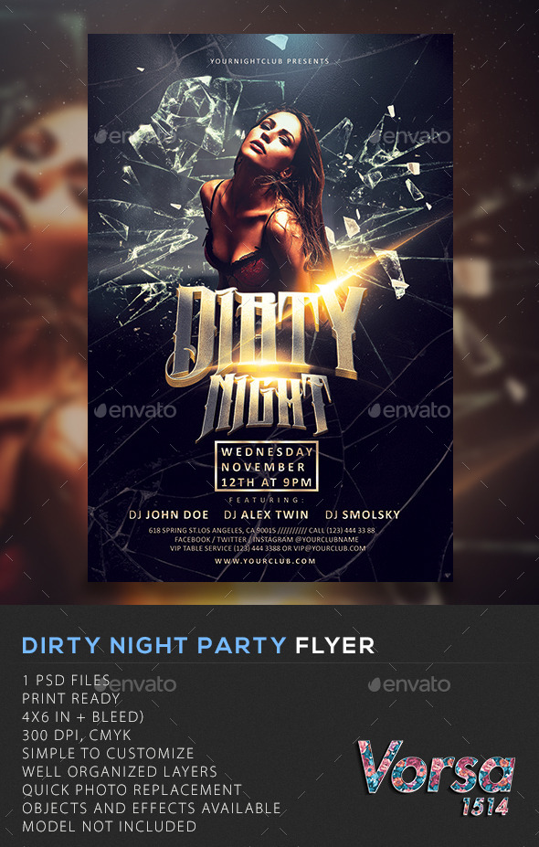 GraphicRiver Dirty Night Flyer 10780405