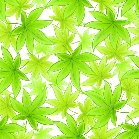 GraphicRiver Seamless Green Leaves Background 10780804