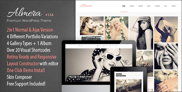 Almera Responsive Portfolio WordPress Theme - Portfolio Creative