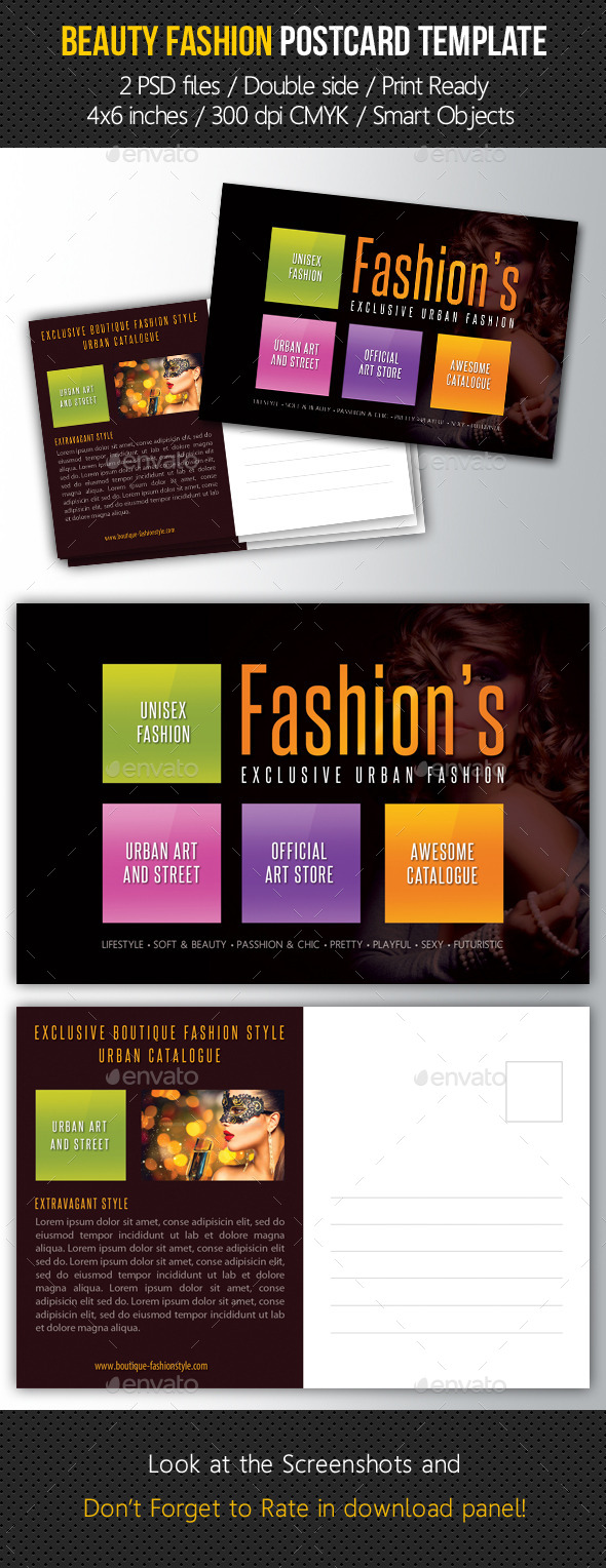 GraphicRiver Beauty Fashion Postcard V04 10781006
