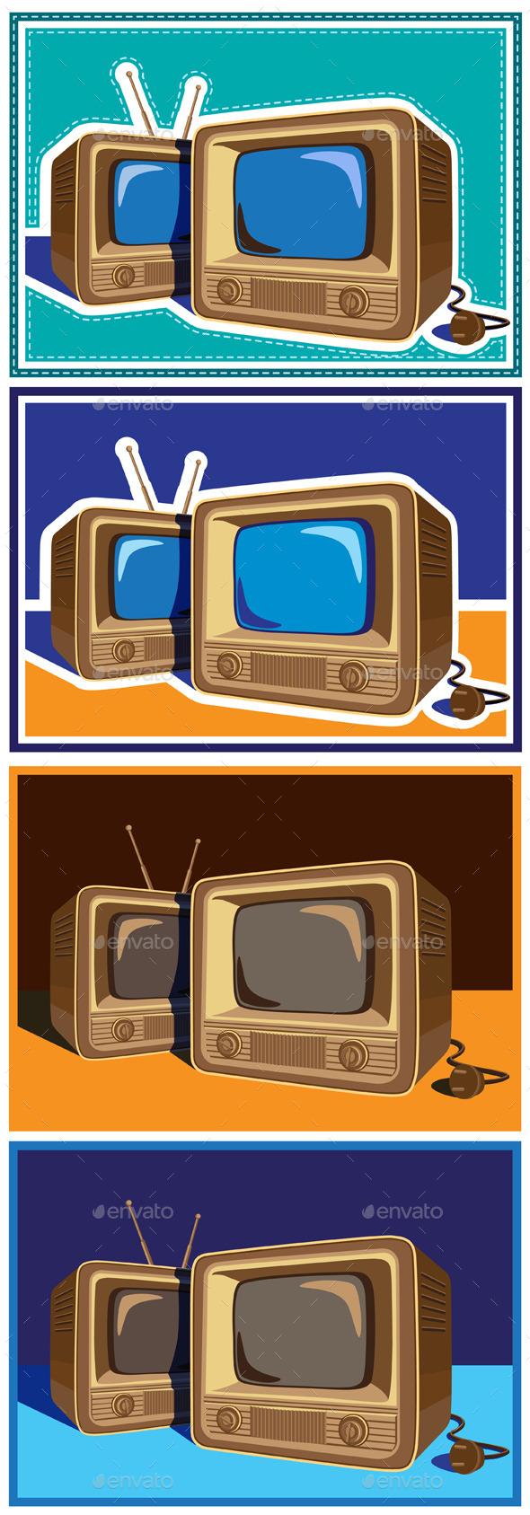 GraphicRiver Old TV Set 10781134