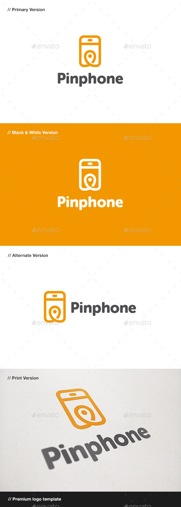GraphicRiver Pin Phone Logo 10781209