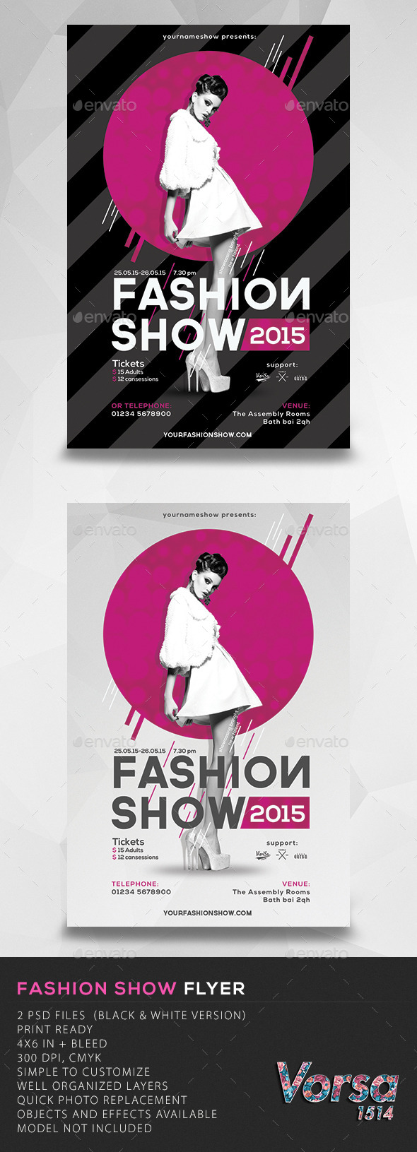 GraphicRiver Fashion Show Flyer 10781226