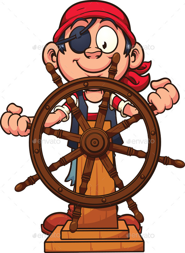 GraphicRiver Pirate at Rudder 10781242