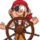 Pirate at Rudder - GraphicRiver Item for Sale