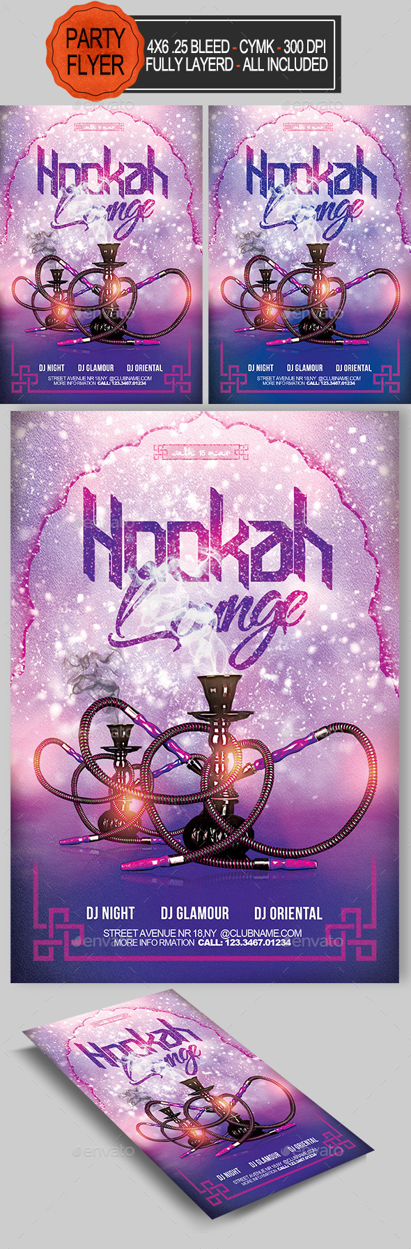 GraphicRiver Hookah Flyer 10781682