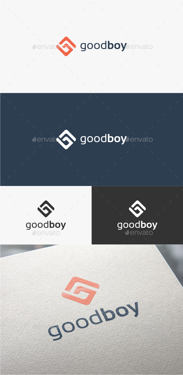 GraphicRiver Good Boy Letter G Logo Template 10781815