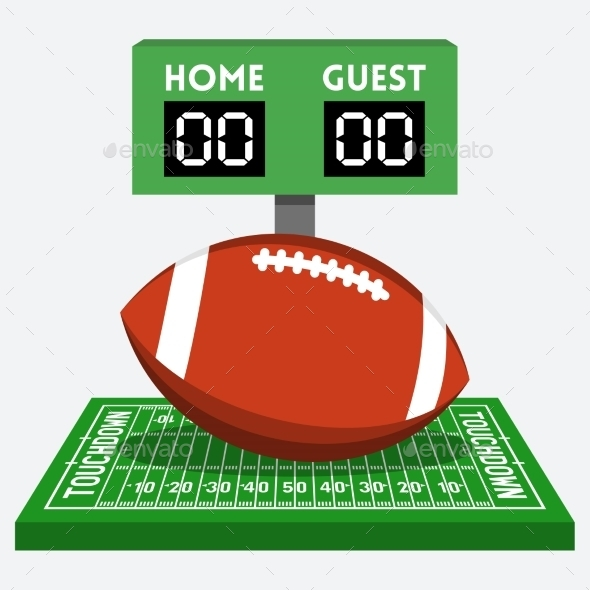 GraphicRiver American Football Field and Ball Composition 10781839