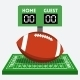 American Football Field and Ball Composition - GraphicRiver Item for Sale