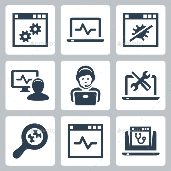 GraphicRiver Computer Help-Line Vector Icons Set 10781894