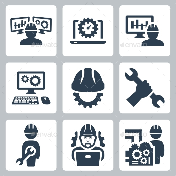 GraphicRiver Engineering vector icons set 10781930