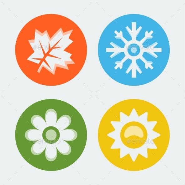 GraphicRiver Vector Four Seasons Icons Set 10781955