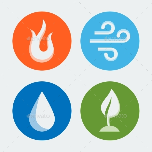 GraphicRiver Four Elements Vector Icons Set #2 10781958