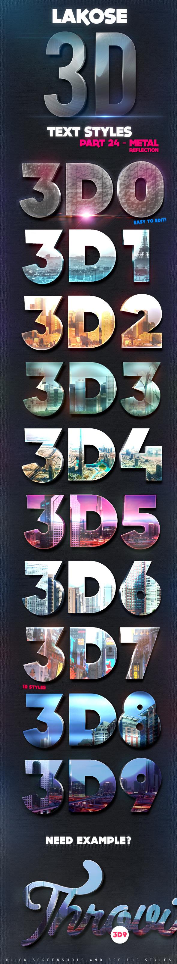 GraphicRiver Lakose 3D Text Styles Part 24 10781979