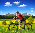 Cyclist with the mountain bike - PhotoDune Item for Sale