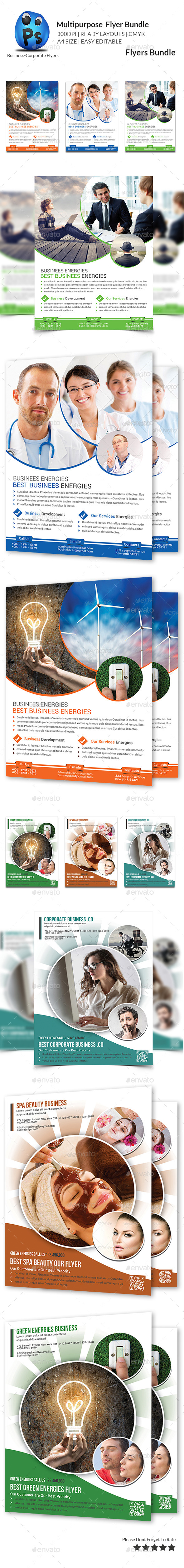 GraphicRiver Multipurpose Business Flyers Bundle 10782135