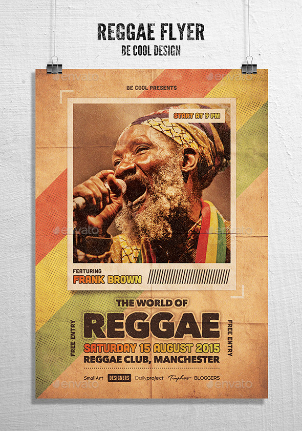 GraphicRiver Reggae Flyer Poster 10782153
