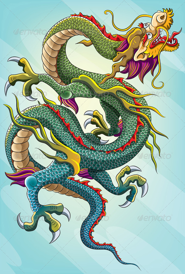 Chinese Dragon Painting Graphicriver