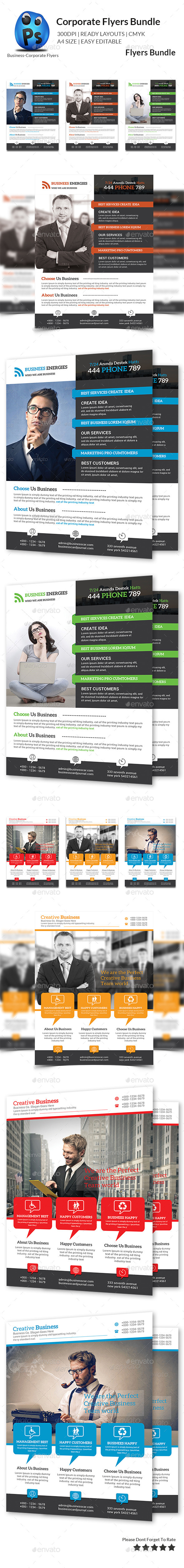 GraphicRiver Corporate Business Flyer Bundle 10782419