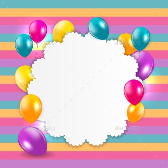 GraphicRiver Glossy Balloons Background Illustration 10782432