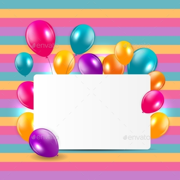 GraphicRiver Glossy Balloons Background Illustration 10782439
