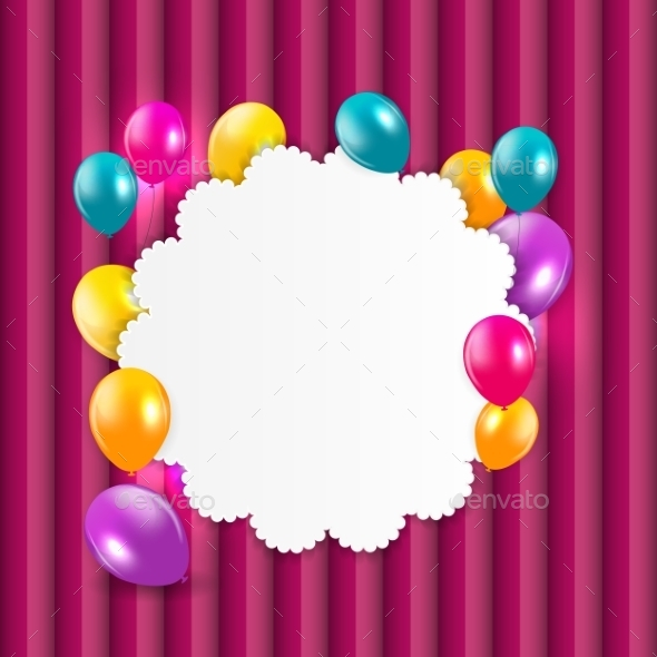 GraphicRiver Colored Balloons Background 10782476