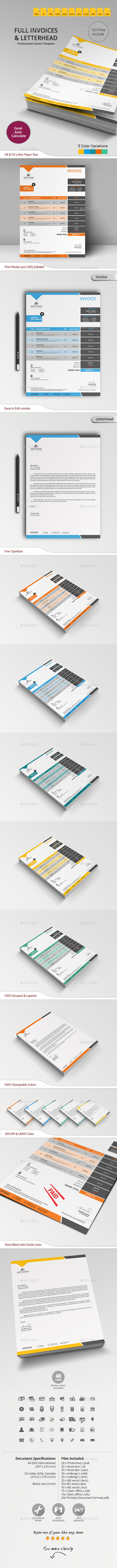 GraphicRiver Invoice with Letterhead 10782776